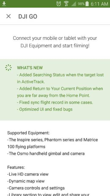 DJI GOAPP 2 7 2 apk firmwares download for Android and